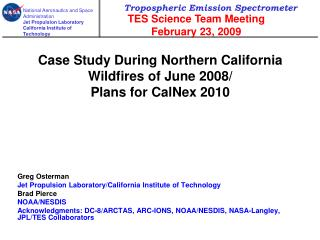 Case Study During Northern California Wildfires of June 2008