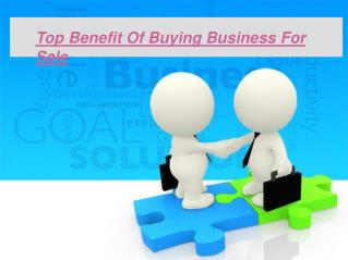 Top Benefit of Buying Business For Sale