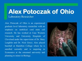 Alex Potoczak of Ohio Laboratory Researcher