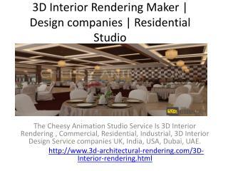 3D Interior Rendering | Residential Villa Design Studio