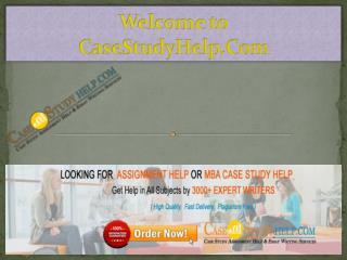 Best Online MBA Assignment Help | Casestudyhelp.com