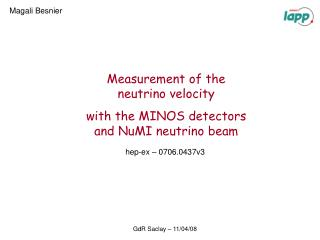 Measurement of the  neutrino velocity  with the MINOS detectors and NuMI neutrino beam