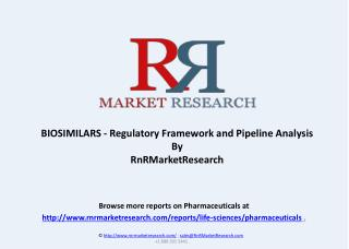 BIOSIMILARS - Regulatory Framework and Pipeline Analysis