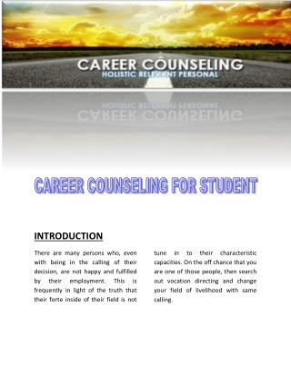 career counseling for students