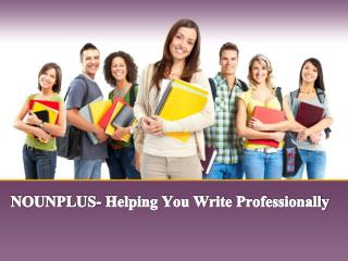 NOUNPLUS- Helping You Write Professionally