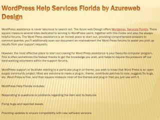 Best Wordpress Support in California by Azurewebdesigns