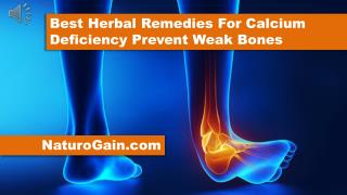 Best Herbal Remedies For Calcium Deficiency Prevent Weak Bon