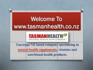 Tasman Health Products -TasmanHealth.co.nz