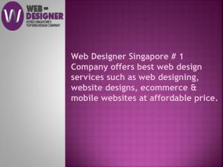 Singapore Top Rated Web Designers Company