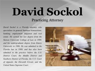 David Sockol-Practicing Attorney