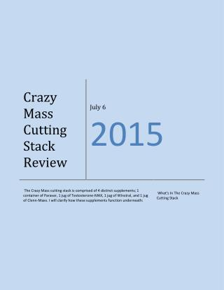 Crazy Mass Cutting Stack Review