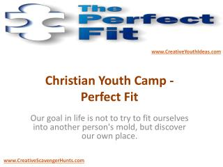 Christian Youth Camp - Perfect Fit