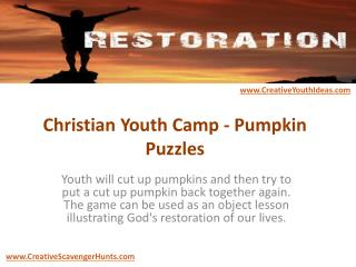 Christian Youth Camp - Pumpkin Puzzles