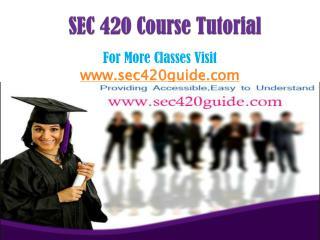 SEC 420 Course/SEC420guidedotcom