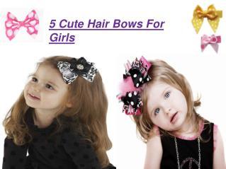 5 Cute Hair Bows For Girls