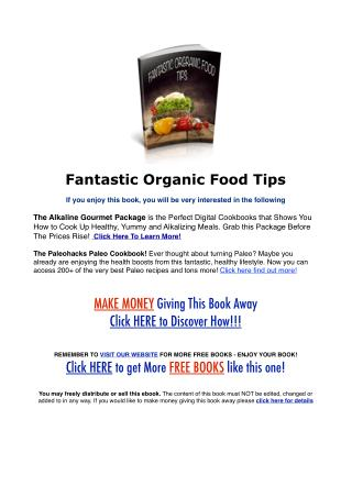 Fantastic Organic Food Tips