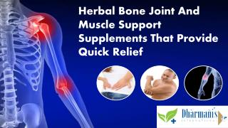 Herbal Bone Joint And Muscle Support Supplements That Provid