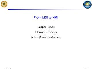 From MDI to HMI