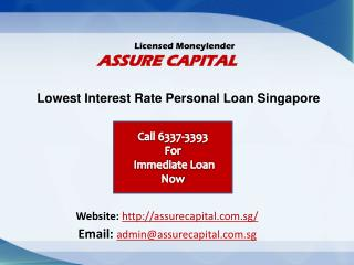 Personal Loan Singapore - Assure Capital
