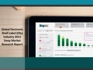 Market Research Report explores Electronic Shelf Labe