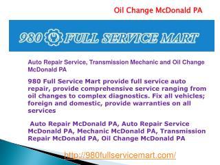 Auto Repair McDonald PA, Auto Repair Service McDonald PA, M