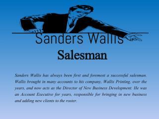 Sanders Wallis_Salesman