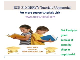 ECET 310 DERVY Tutorial / Uoptutorial