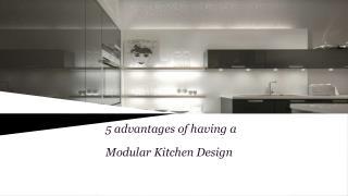 5 Advantages of Modular Kitchen Design