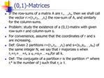 0,1-Matrices