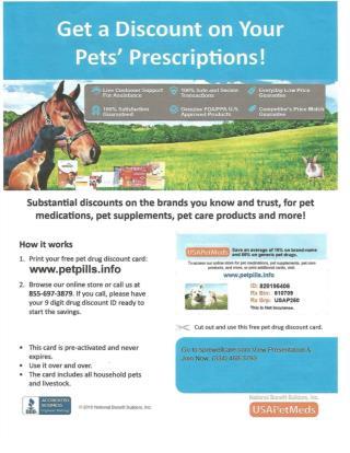 Get a Discount on Your Pet's Prescriptions!