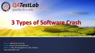 3 Types of Software Crash