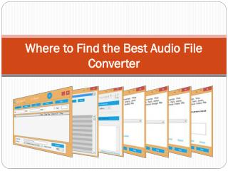 Where to Find the Best Audio File Converter