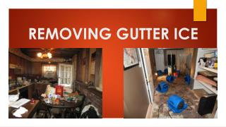 REMOVING GUTTER ICE