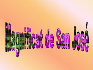 Magnificat de San Jos