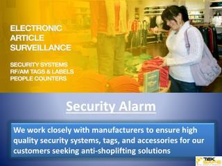 Alarm Systems - alarm detectors, security alarm