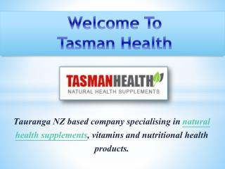 Herbal Health Supplements -TasmanHealth.co.nz