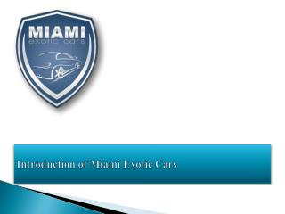Exotic Car Rental Miami