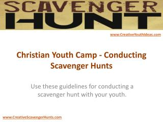 Christian Youth Camp - Conducting Scavenger Hunts
