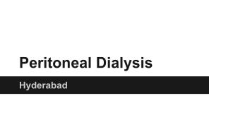 Peritoneal Dialysis hyderabad