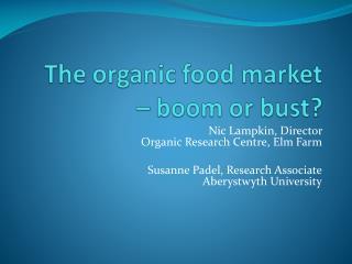 The organic food market