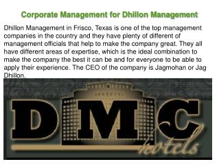 Corporate Management for Dhillon Management