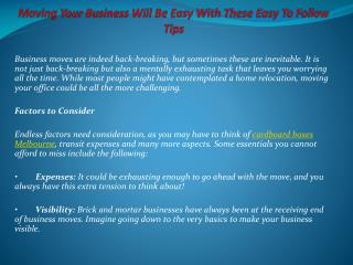 Moving Your Business Will Be Easy With These Easy To Follow