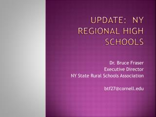 Update:  NY Regional High Schools