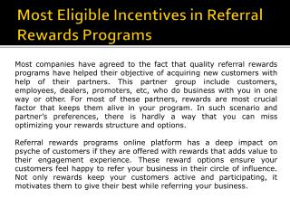 Referral Rewards Programs
