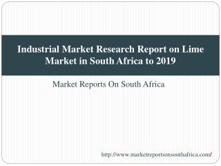 Industrial Market Research Report on Lime Market in South Af