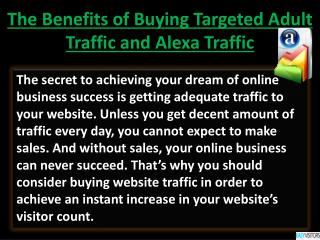 Benefits of Buying Targeted Adult Traffic and Alexa Traffic