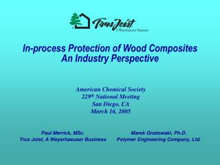 In-process Protection of Wood Composites  An Industry Perspective
