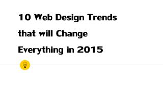 Expert Webdesign Tips of 2015