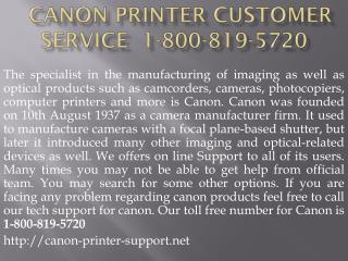 1-800-819-5720 Canon Printer Customer Service