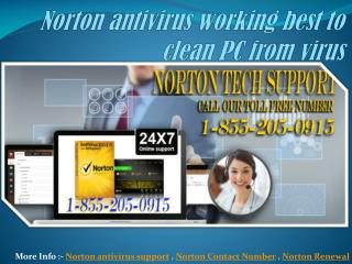 Norton antivirus working best to clean PC from virus